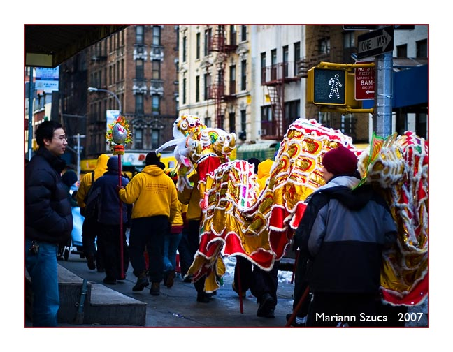 Chinese lunar New Year in Chinatown NYC