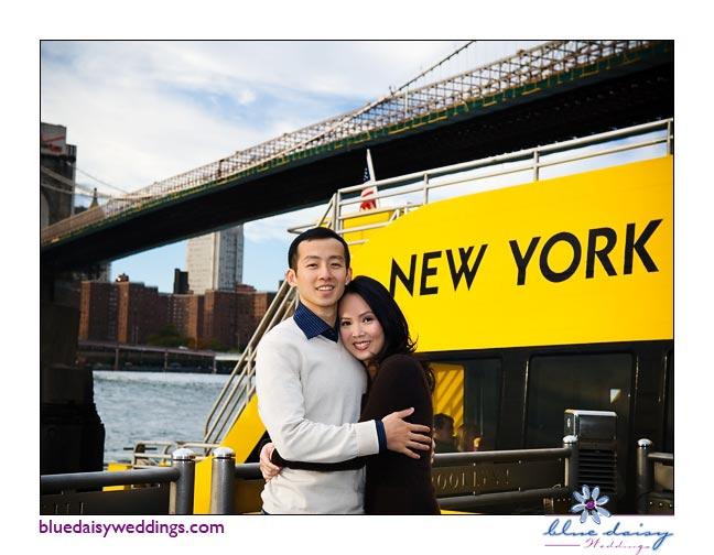 DUMBO Brooklyn fall engagement session
