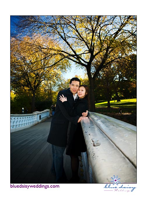 Chinatown and Central Park fall engagement session in New York City
