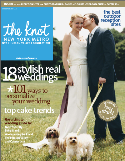 wedding feature in the Knot bridal magazine