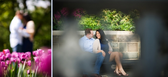 Conservatory Garden engagement ~ Taryn and Steve » Romantic