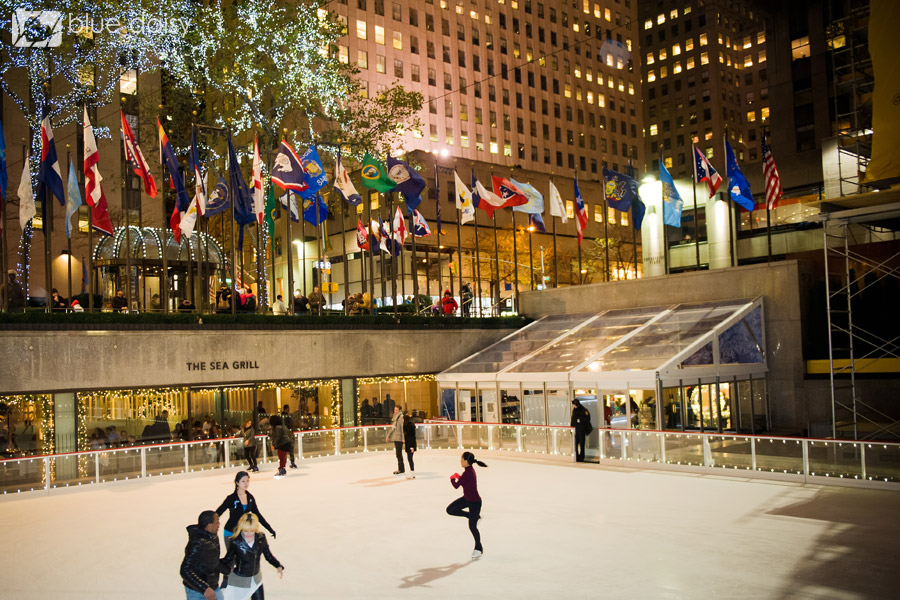 Rockefeller Center ice rink marriage proposal