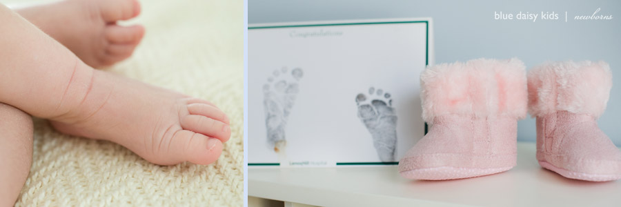 newborn feet closeup