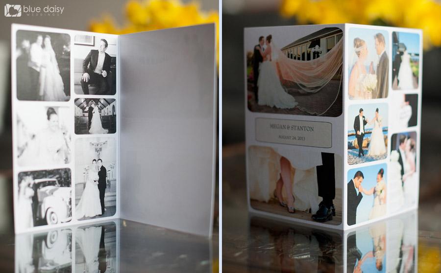 photo collage wedding card