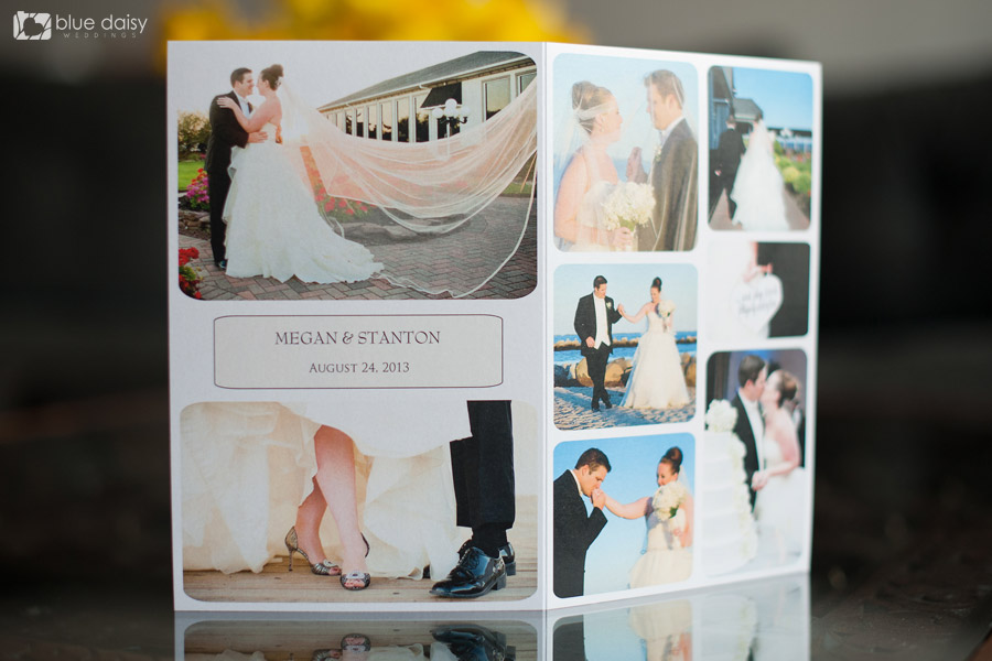 photo collage wedding thank you card