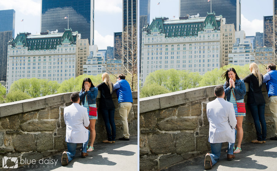 Manhattan surprise proposal photographer