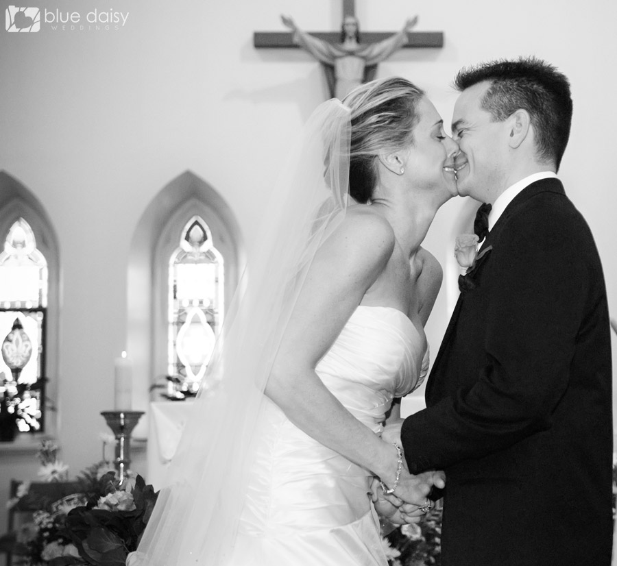 first wedding kiss as husband and wife