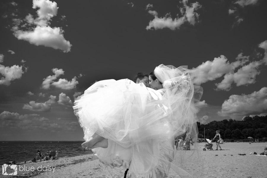 Long Island NY beach wedding photo