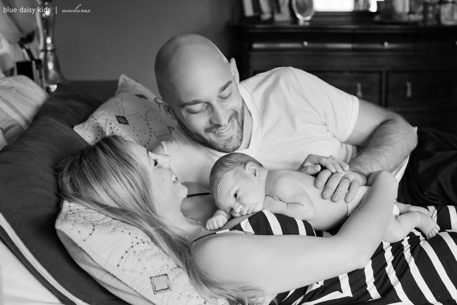 newborn baby and family portraits