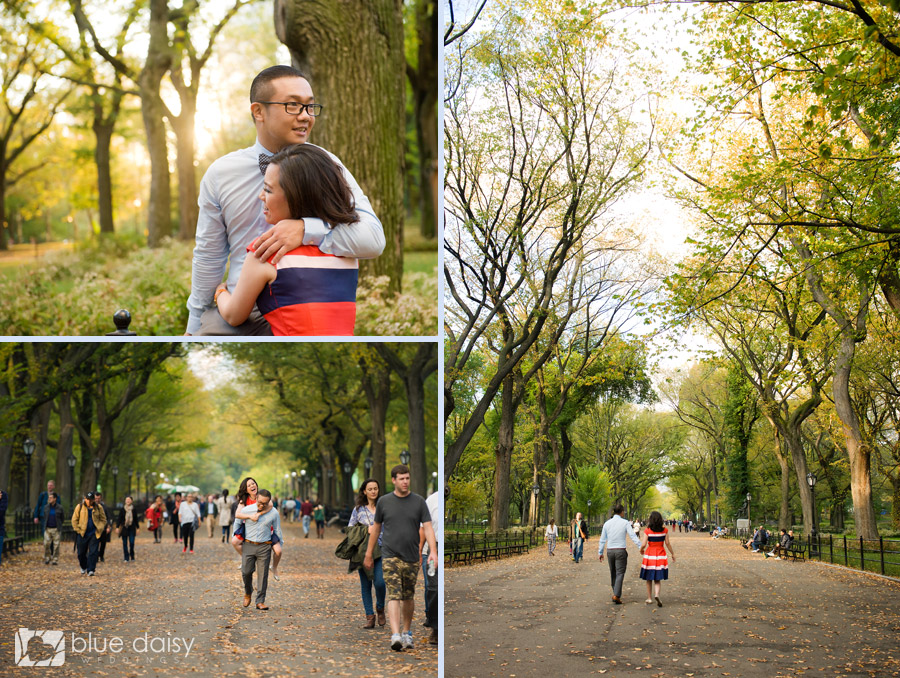 Central Park NYC engagement portrait
