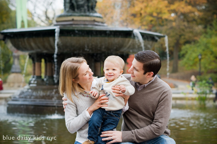 family portraits at Bethesda Terrace in Central Park