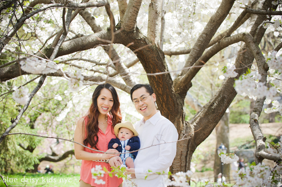 Cherry blossom family portrait session in Central Park - Manhattan NYC