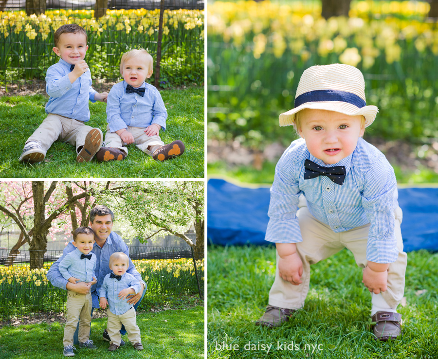 Spring family portraits in Central Park, New York City