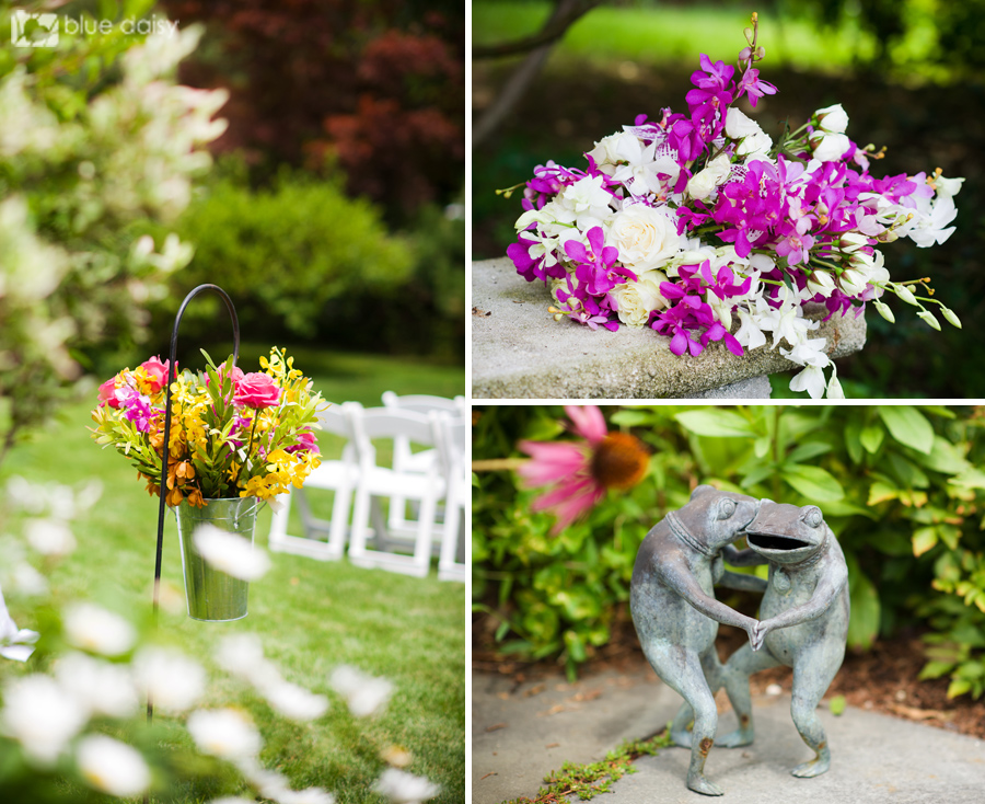 Colorful backyard summer wedding in Greenwich, Connecticut