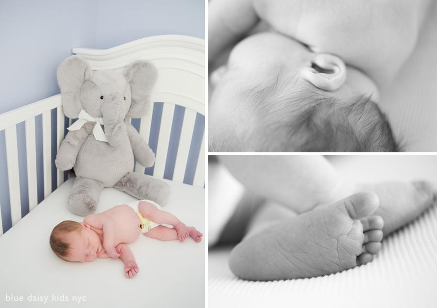 Newborn baby boy lifestyle portrait session