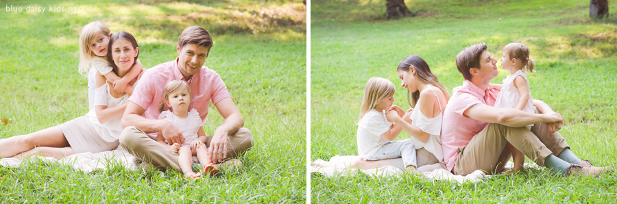 Summer family portraits in Central Park, New York City