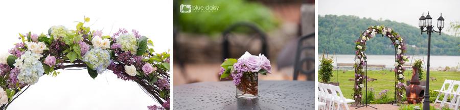 Harvest on Hudson spring wedding flower decorations