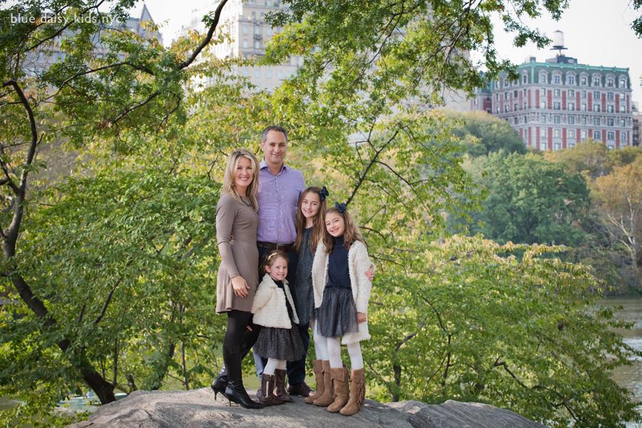 Bow Bridge, Central Park family portraits