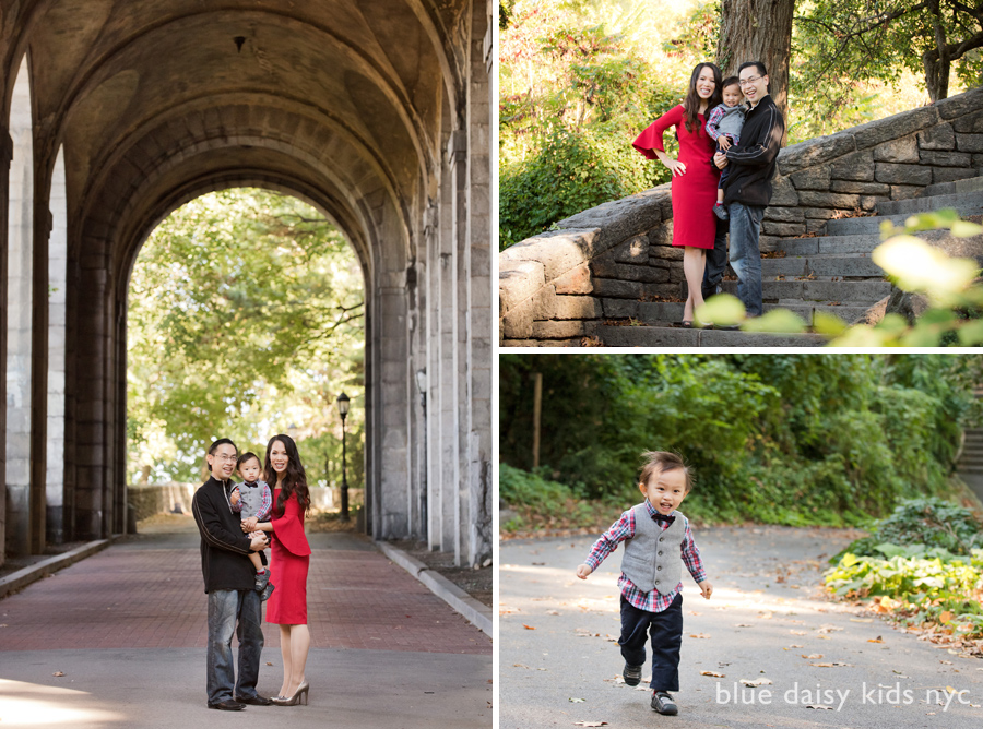 Fort Tryon Park New York City family portraits
