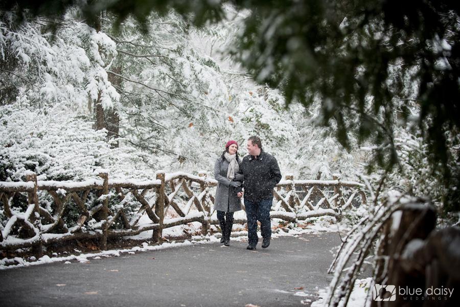winter engagement portraits
