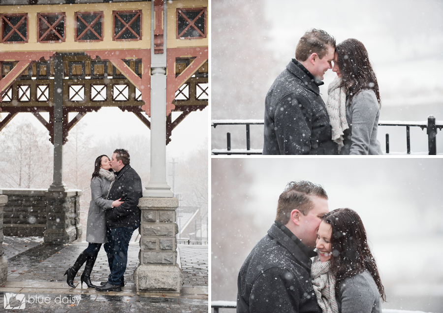 winter engagement portraits in Central Park